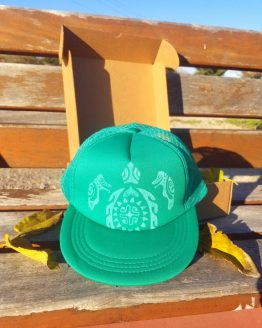 Gorra SnapBack Verde tortuga maorí HatInk