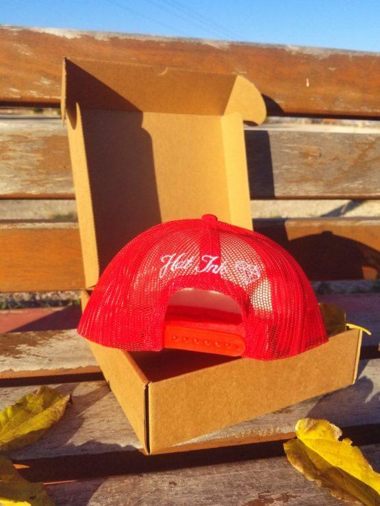 Gorra Trucker roja mandala HatInk